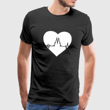 COLLAR IN THE HEART - Cologne love - Men's Premium T-Shirt
