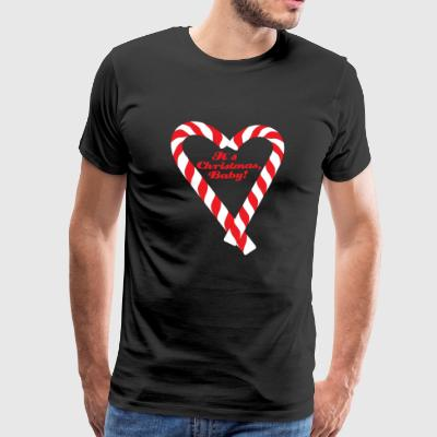 Candy Cane - It's Christmas, Baby! - Men's Premium T-Shirt