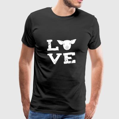 Pig domestic pig farmer farmer love gift - Men's Premium T-Shirt
