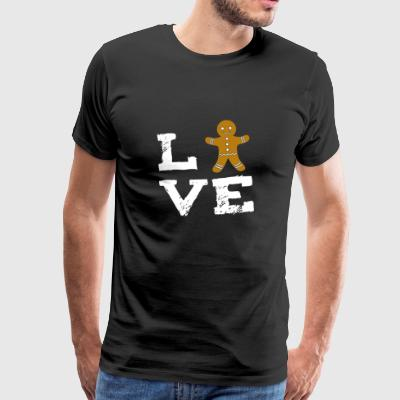 Gingerbread Man Gingerbread Christmas Santa Love Ge - Men's Premium T-Shirt