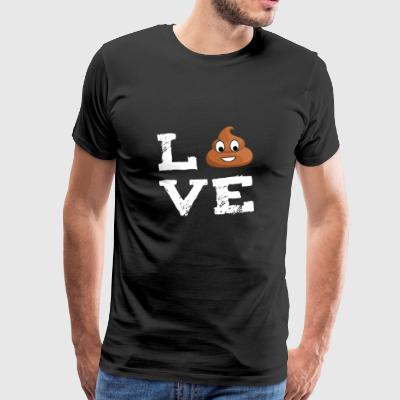 Poop Emoticon shit shit pile love Gesc - Men's Premium T-Shirt