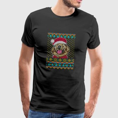 Golden Retriever Ugly Christmas Sweater Gift - Men's Premium T-Shirt