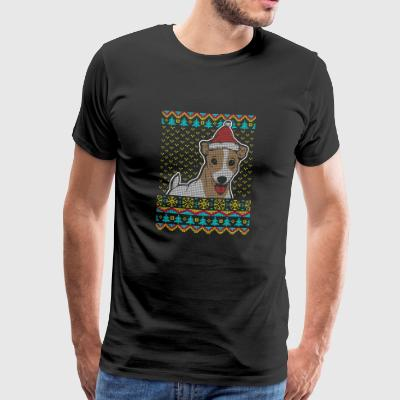 Jack Russell Terrier Ugly Christmas Sweater Gifts - Men's Premium T-Shirt