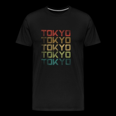 Tokio - used look - Mannen Premium T-shirt