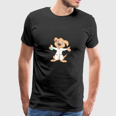 Dog comic scientist chemistry biology - Men's Premium T-Shirt