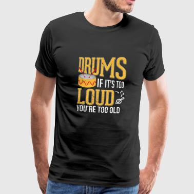 Drummer Gift Drums Drummer Sticks Musician - Men's Premium T-Shirt