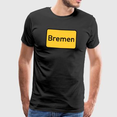 Bremen town sign - Men's Premium T-Shirt