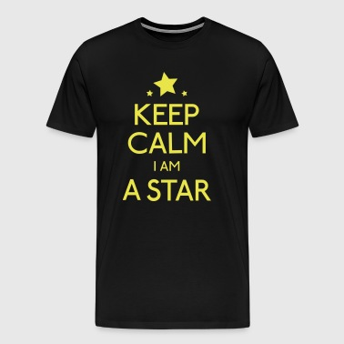 keep calm i am a star - T-shirt Premium Homme