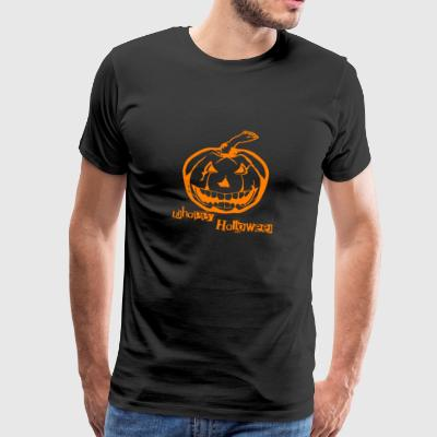 Unhappy Halloween Pumpkin Face Pumpkin Happy Party - Men's Premium T-Shirt