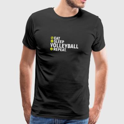 Eat, sleep, volleyball, repeat - Men's Premium T-Shirt