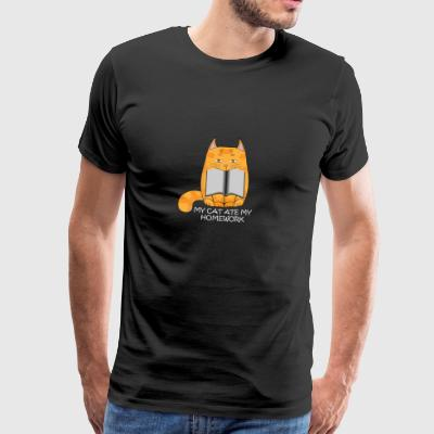 My cat ate my homework - Männer Premium T-Shirt