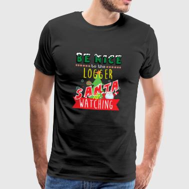 Logger Christmas Gift Idea - Men's Premium T-Shirt