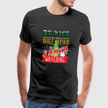 Barge Captain Christmas Gift Idea - Men's Premium T-Shirt