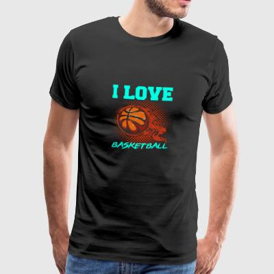 I love basketball gift - Men's Premium T-Shirt