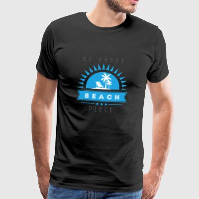 Min glad Place Beach T Shirt gave - Herre premium T-shirt