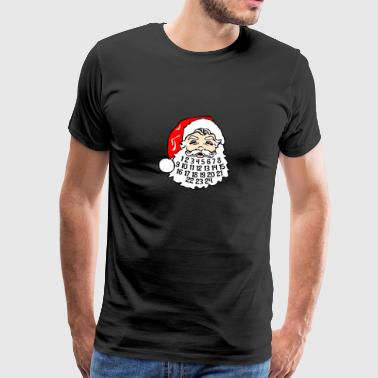 Advent Calendar In Santa's Beard December Holiday - Men's Premium T-Shirt