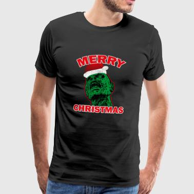 Funny Ugly Christmas Zombie Santa Hat Present Idéer - Premium-T-shirt herr