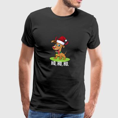 santa dog ugly Christmas Xmas reindeer geek Xmas pc - Men's Premium T-Shirt