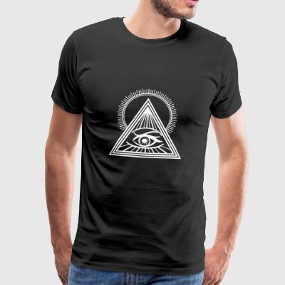 Gift pyramid sun eye Illuminati Egypt - Men's Premium T-Shirt