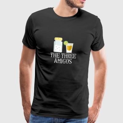 The Three Amigos Tequila Lime Salt Christmas - Men's Premium T-Shirt