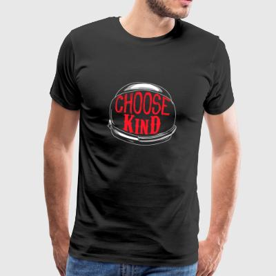 Choose Kind Red - Miesten premium t-paita
