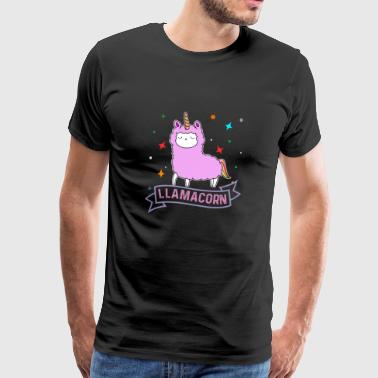 Llamacorn Cute Unicorn Llama - Men's Premium T-Shirt