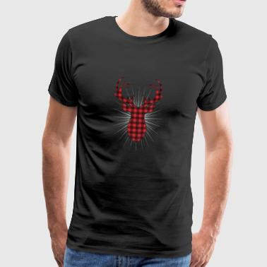 Plaid Antler Oh My Deer - Männer Premium T-Shirt
