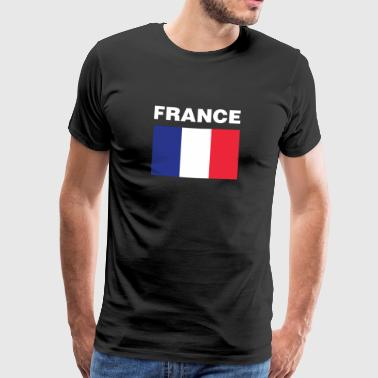 France Flag French Tricolour Proud Frenchman Pride - Men's Premium T-Shirt