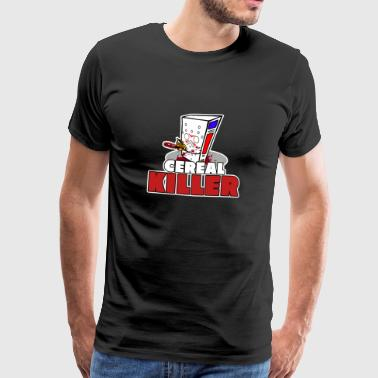 Cereal killer / breakfast lover / gift - Men's Premium T-Shirt