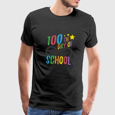 100th Day of School Tee for Teachers and Student - Men's Premium T-Shirt