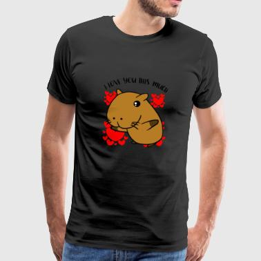 Capybara I Love You This Much Valentine's Day Gift - Men's Premium T-Shirt