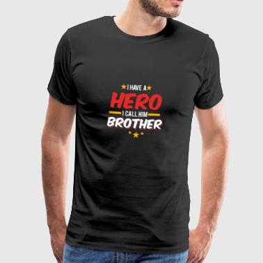 Super Brother / Hero / bror / gave - Premium T-skjorte for menn