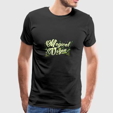 Magical Vegan - Magic Vegan - Animal Rights - Men's Premium T-Shirt