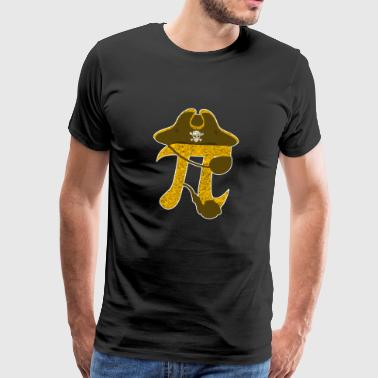 Pi Pirate Funny Algebraic Mathematic Symbol Sign - Mannen Premium T-shirt