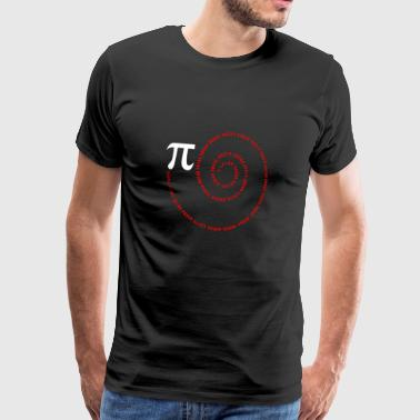 Spiraal Pi Science Geek Math Symbool Grappige Pi-dag - Mannen Premium T-shirt