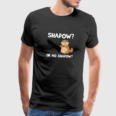 Shadow Or No Shadow Funny Cute Groundhog Forecast - Men's Premium T-Shirt