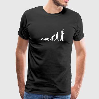 Rapper Hip Hop Shirt Giften van de pret Grow Evolution - Mannen Premium T-shirt