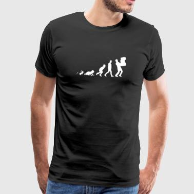 Package delivery Fun Shirt Gifts Grow Evolution - Men's Premium T-Shirt