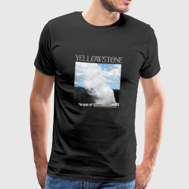 Yellowstone Hot Springs Gushing Geysire Old - Männer Premium T-Shirt