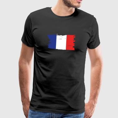 Frankrig flag - Fan Shirt - Herre premium T-shirt