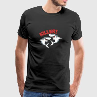 Shark - Gift - Shirt - Killer - Herre premium T-shirt
