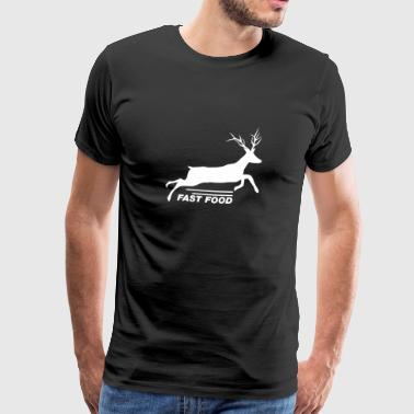 Fast Food Deer T-Shirt - Funny Anti Vegan Hunting - Men's Premium T-Shirt