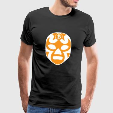 Lucha Libre Bitcoin Mexican Wrestling Free Fight - Premium-T-shirt herr