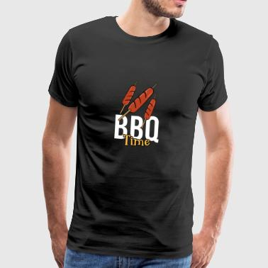 Lustiges Hot dog BBQ Barbecue Time Grill T-Shirt - Männer Premium T-Shirt