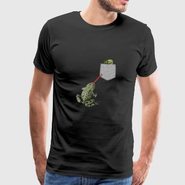 Frog Tongue Reaching For Tadpole In Your Fake - Men's Premium T-Shirt
