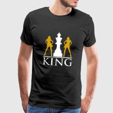 The chess king - Men's Premium T-Shirt