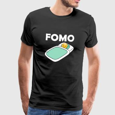 Fomo Sad Emoji In Bed Fear Of Missing Out Graphic - Men's Premium T-Shirt
