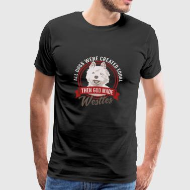 All Dogs Equal Westies T-shirt - Männer Premium T-Shirt