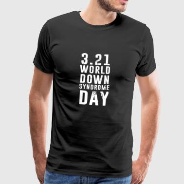 World Down Syndrome Day - Premium T-skjorte for menn