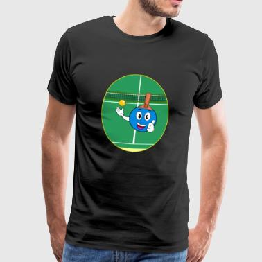 blue comic table tennis racket Gift idea - Men's Premium T-Shirt